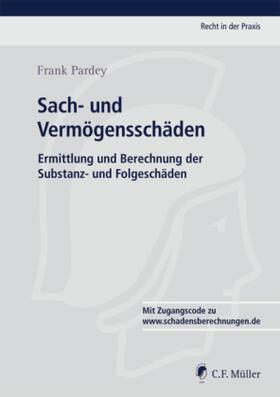 Pardey   Sach- und Vermögensschäden, m. CD-ROM   Buch   sack.de