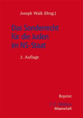 Walk | Das Sonderrecht für die Juden im NS-Staat | Buch | sack.de