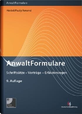 Heidel / Pauly / Amend | AnwaltFormulare | Buch | sack.de