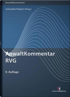 Schneider / Volpert | AnwaltKommentar RVG | Buch | sack.de