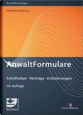 Heidel / Pauly   AnwaltFormulare   Buch   sack.de