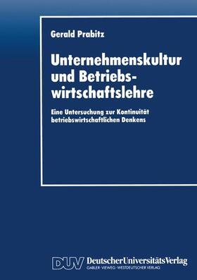Unternehmenskultur und Betriebswirtschaftslehre   Buch   sack.de