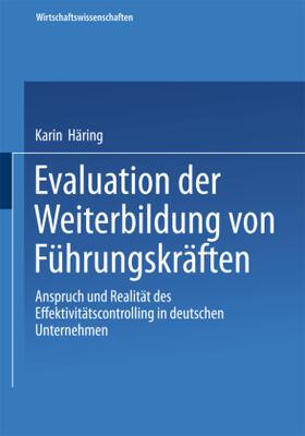 Häring | Evaluation der Weiterbildung von Führungskräften | Buch | sack.de