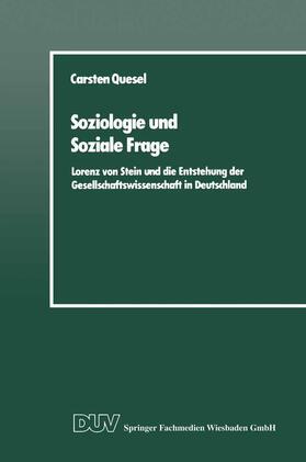 Quesel | Soziologie und Soziale Frage | Buch | sack.de