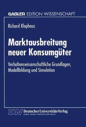 Marktausbreitung neuer Konsumgüter   Buch   sack.de