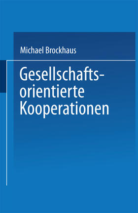 Gesellschaftsorientierte Kooperationen im ökologischen Kontext   Buch   sack.de