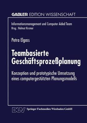 Teambasierte Geschäftsprozeßplanung | Buch | sack.de