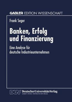Banken, Erfolg und Finanzierung | Buch | sack.de