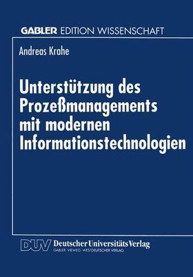Unterstützung des Prozeßmanagements mit modernen Informationstechnologien | Buch | sack.de
