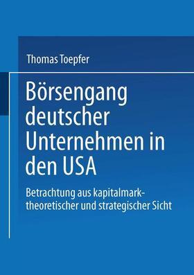 Börsengang deutscher Unternehmen in den USA | Buch | sack.de