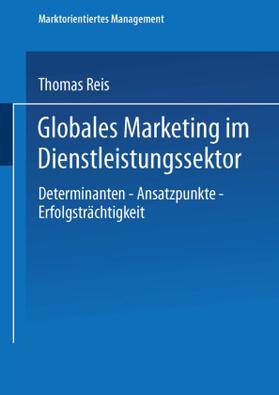 Globales Marketing im Dienstleistungssektor | Buch | sack.de