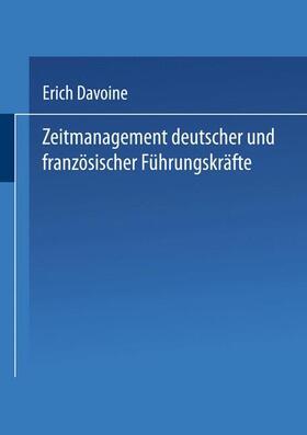 Zeitmanagement deutscher und französischer Führungskräfte | Buch | sack.de