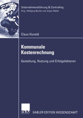 Hunold | Kommunale Kostenrechnung | Buch | sack.de