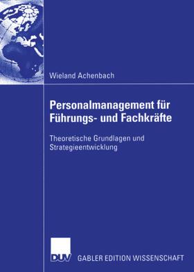 Achenbach | Personalmanagement für Führungs- und Fachkräfte | Buch | sack.de