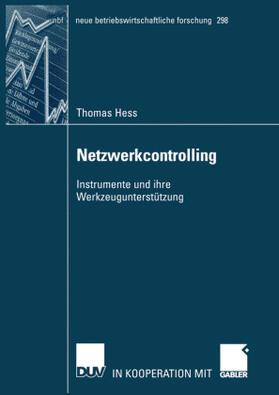 Hess | Netzwerkcontrolling | Buch | sack.de
