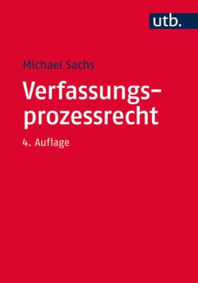 Sachs | Verfassungsprozessrecht | Buch | sack.de