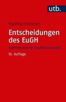 Pechstein | Entscheidungen des EuGH | Buch | sack.de