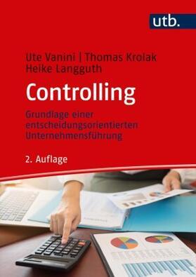 Vanini / Langguth / Krolak   Controlling   Buch   Sack Fachmedien