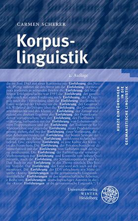 Scherer | Korpuslinguistik | Buch | sack.de