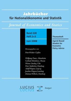 Winker / LeBaron   Agent Based Models for Economic Policy Advice   Buch   sack.de
