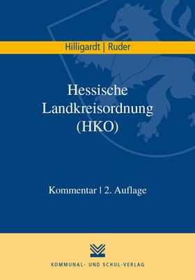 Hilligardt / Ruder   Hessische Landkreisordnung (HKO)   Buch   sack.de