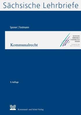 Sponer / Tostmann | Kommunalrecht (SL 5) | Buch | sack.de