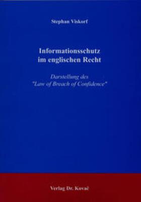 Viskorf | Informationsschutz im englischen Recht | Buch | sack.de