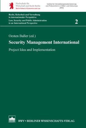 Baller   Security Management International   Buch   sack.de