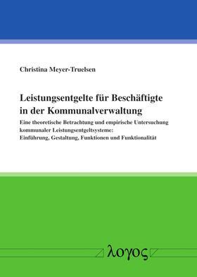 Meyer-Truelsen   Leistungsentgelte für Beschäftigte in der Kommunalverwaltung   Buch   sack.de