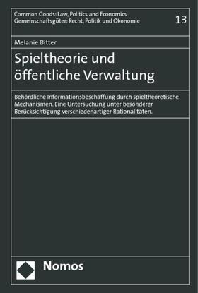Bitter | Spieltheorie und öffentliche Verwaltung | Buch | sack.de