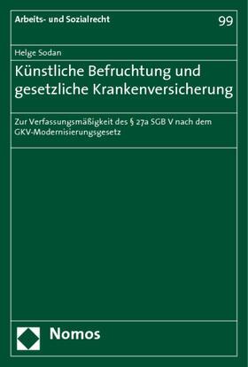 Sodan | Künstliche Befruchtung und gesetzliche Krankenversicherung | Buch | sack.de