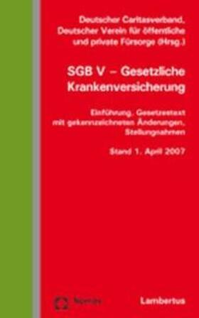 Deutscher Caritasverband   SGB V - Gesetzliche Krankenversicherung   Buch   sack.de