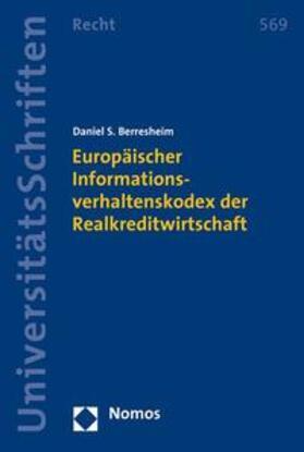 Berresheim | Europäischer Informationsverhaltenskodex der Realkreditwirtschaft | Buch | sack.de