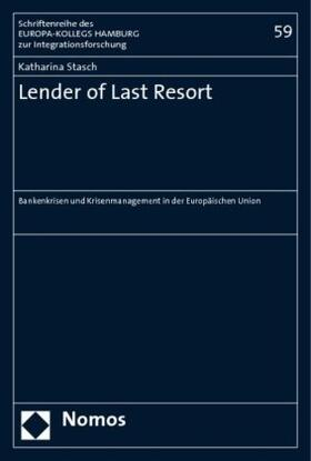 Stasch   Lender of Last Resort   Buch   sack.de
