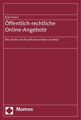 Peters   Öffentlich-rechtliche Online-Angebote   Buch   sack.de