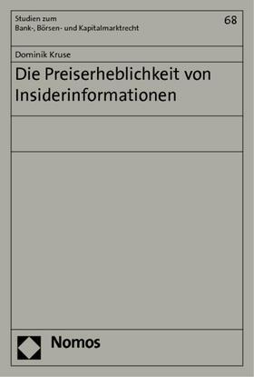 Kruse | Die Preiserheblichkeit von Insiderinformationen | Buch | sack.de