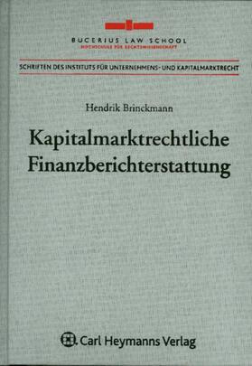 Brinkmann | Kapitalmarktrechtliche Finanzberichterstattung | Buch | sack.de