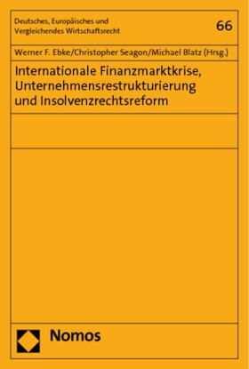 Ebke / Seagon / Blatz | Internationale Finanzmarktkrise, Unternehmensrestrukturierung und Insolvenzrechtsreform | Buch | sack.de