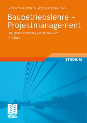 Greiner / Mayer / Stark   Projektmanagement   Buch   sack.de