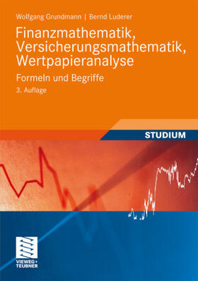 Luderer / Grundmann | Finanzmathematik, Versicherungsmathematik, Wertpapieranalyse | Buch | sack.de