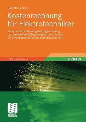 Capone | Kostenrechnung für Elektrotechniker | Buch | sack.de
