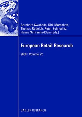 Swoboda / Morschett / Rudolph | European Retail Research | Buch | sack.de