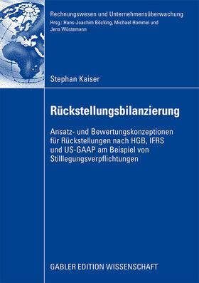 Kaiser   Rückstellungsbilanzierung   Buch   sack.de