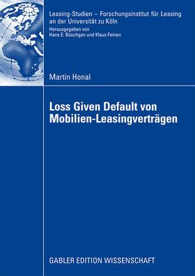 Honal | Loss Given Default von Mobilien-Leasingverträgen | Buch | sack.de