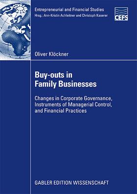Klöckner | Buy-Outs in Family Businesses | Buch | sack.de