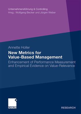 Holler | New Metrics for Value-Based Management | Buch | sack.de