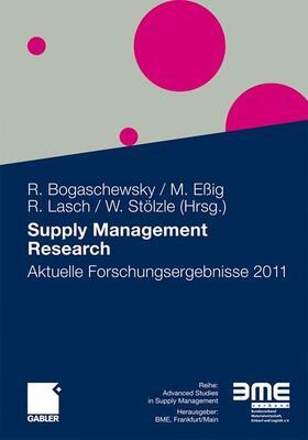 Bogaschewsky / Eßig / Lasch | Supply Management Research | Buch | sack.de