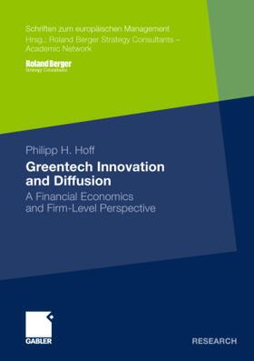 Hoff | Greentech Innovation and Diffusion | Buch | sack.de
