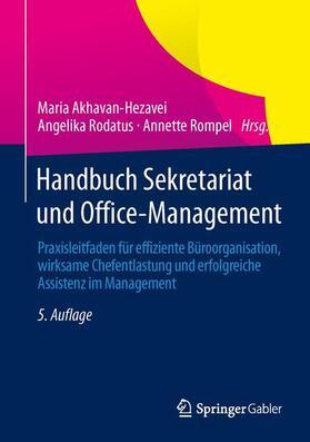 Akhavan-Hezavei / Rodatus / Rompel | Handbuch Sekretariat und Office-Management | Buch | sack.de