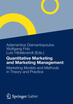 Diamantopoulos / Fritz / Hildebrandt | Quantitative Marketing and Marketing Management | Buch | sack.de